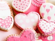 Ванилови сладки за десерт за Свети Валентин